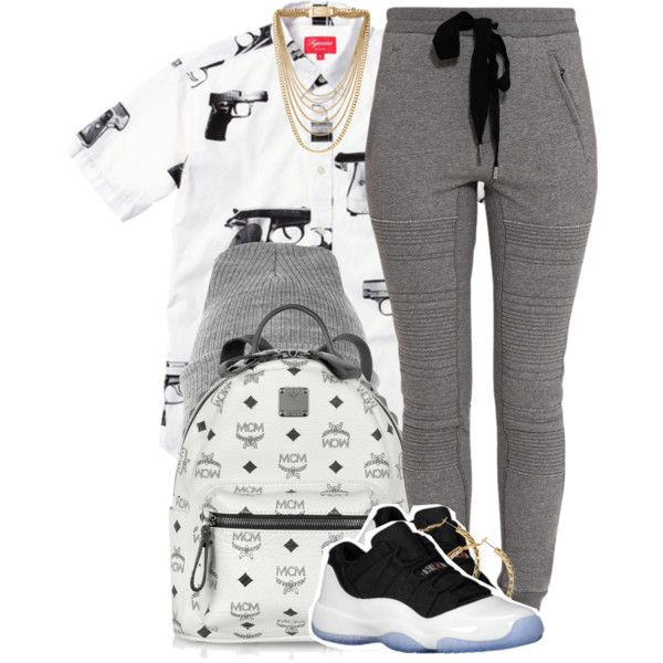 A fashion look from November 2013 featuring 3.1 Phillip Lim activewear pants, MCM backpacks and Michael Kors necklaces. Browse and shop related looks.