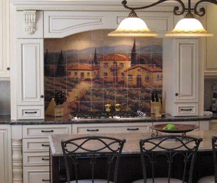 Kitchen Backsplash Murals 17 best murales images on pinterest | tile murals, kitchen shower
