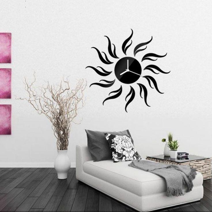 Die besten 25+ Schwarze wanduhren Ideen auf Pinterest - moderne wanduhren wohnzimmer