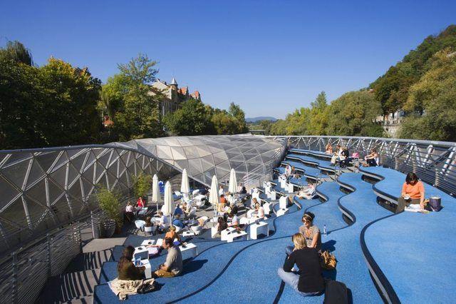 passerella pedonale di Murinsel, a Graz (Austria) - Cerca con Google