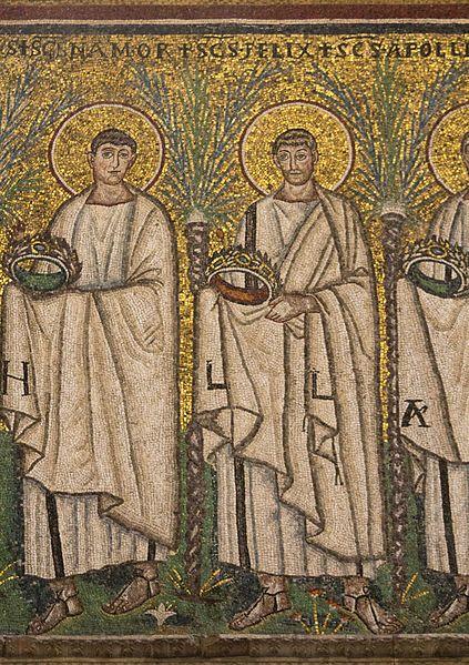 Procesja męczenników, St Apollinaire Nuovo, Ravenna, Emilia-Romania, Italia