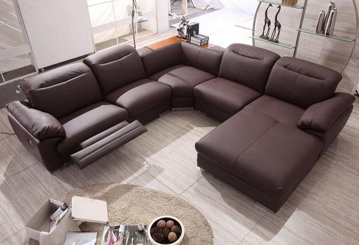 Modern Contemporary Sectional Sofa with Recliners