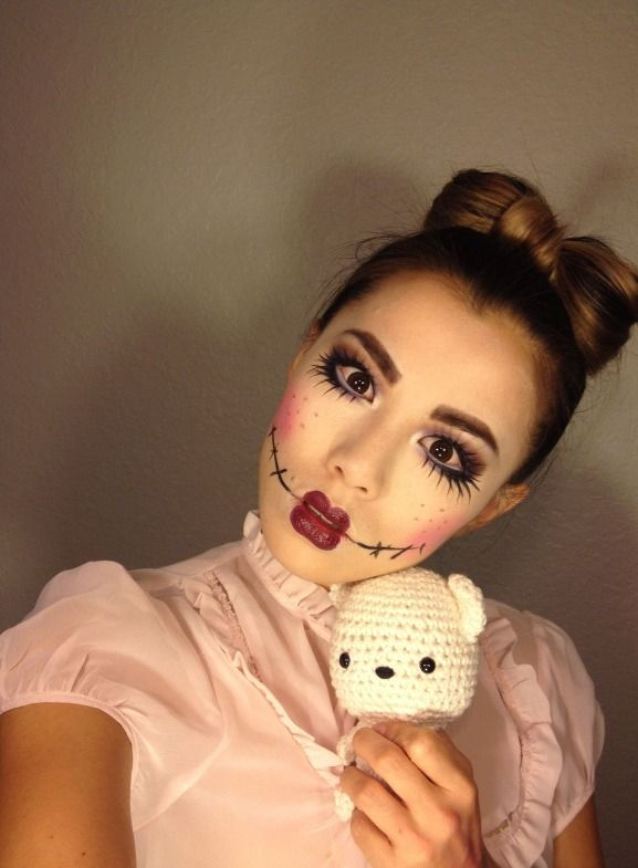 Halloween Rag Doll makeup