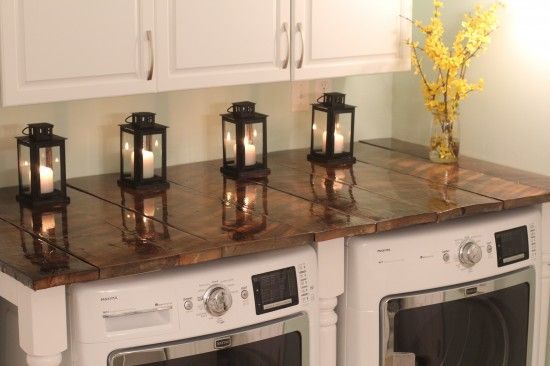 Barnwood Folding Table - something similar might be a good idea for the laundry closet at the house