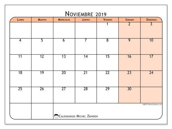 Calendario Noviembre 2019.Calendario Noviembre 2019 61ld Invitacion Calendario Junio