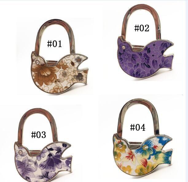 100 Pcs/lot Zinc Alloy Crafts Bag Hanger/ OEM Crafts Bag Holder Foldable  Handbag Hook At Coffee Bar Restaurant