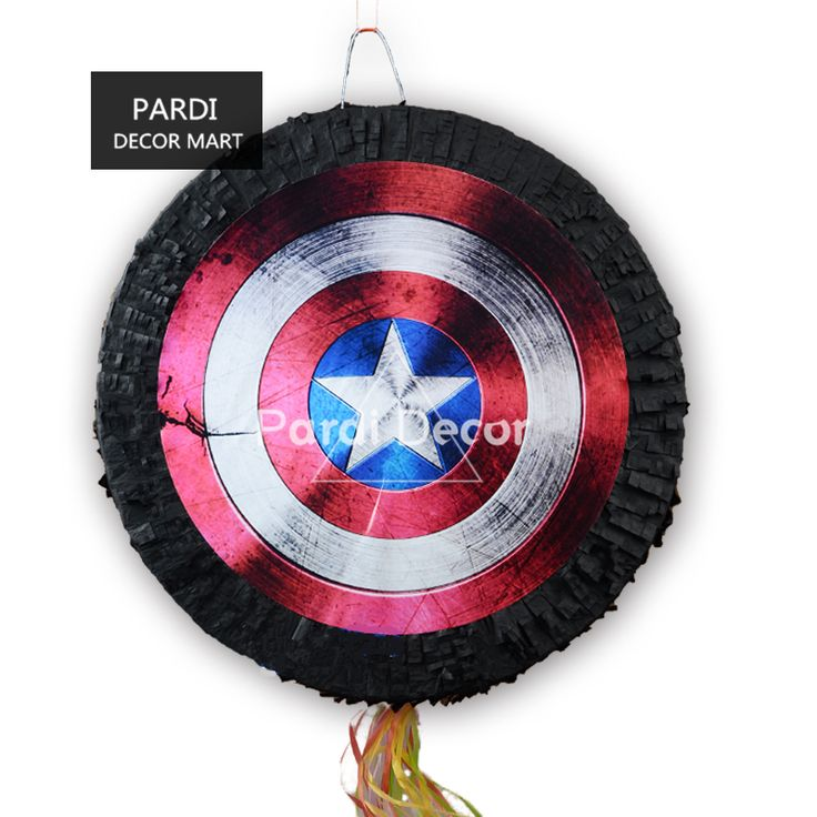 Captain America pinata birthday party props beating props party decorations #Affiliate