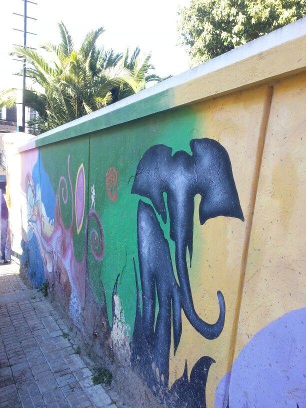 Valparaiso. Mural en Cerro Alegre