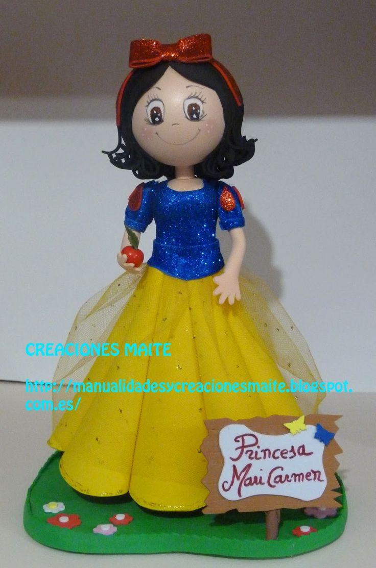 FOFUCHAS. Manualidades y Creaciones Maite: Fofucha Princesa