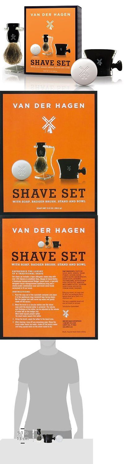 Shaving Brushes and Mugs: Mens Luxury Shave Kit 100 Pure Badger Hair Brush Hypoallergenic Shave Soap BUY IT NOW ONLY: $31.32