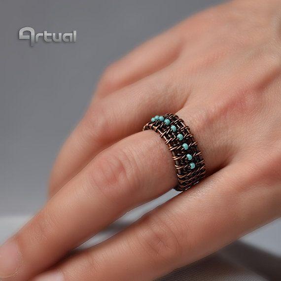 1172 best wire woven jewelry images on pinterest wire - Alambre de cobre ...