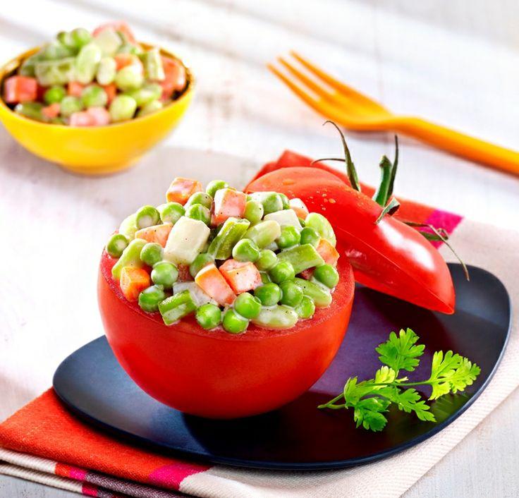 Farcissez vous des tomates tomates coup es et for Une entree originale
