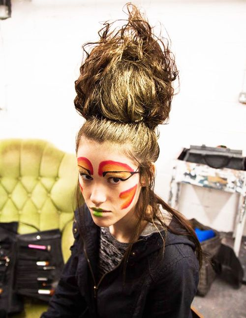 behind the scenes photo - hairstyle by Dominika Laureckis, Hair Passion Art Salon owner (Cork, Ireland)