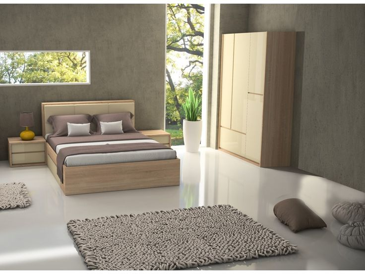 Dormitor Berna D3 - Crem Lucios - Mobila Casa Rusu