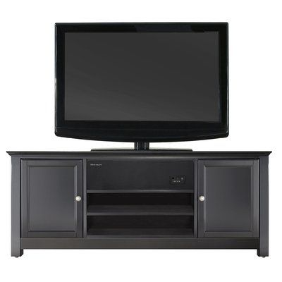 Winston Porter Marcela Tv Stand For Tvs Up To 50 Inches Long Tv Stand Cool Tv Stands Low Profile Tv Stand