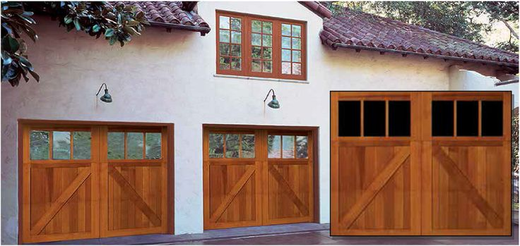 Signature® Carriage Wood Garage Doors  Beautiful Amish Custom crafted wood doors provide distinctive charm and unmatched luxury.