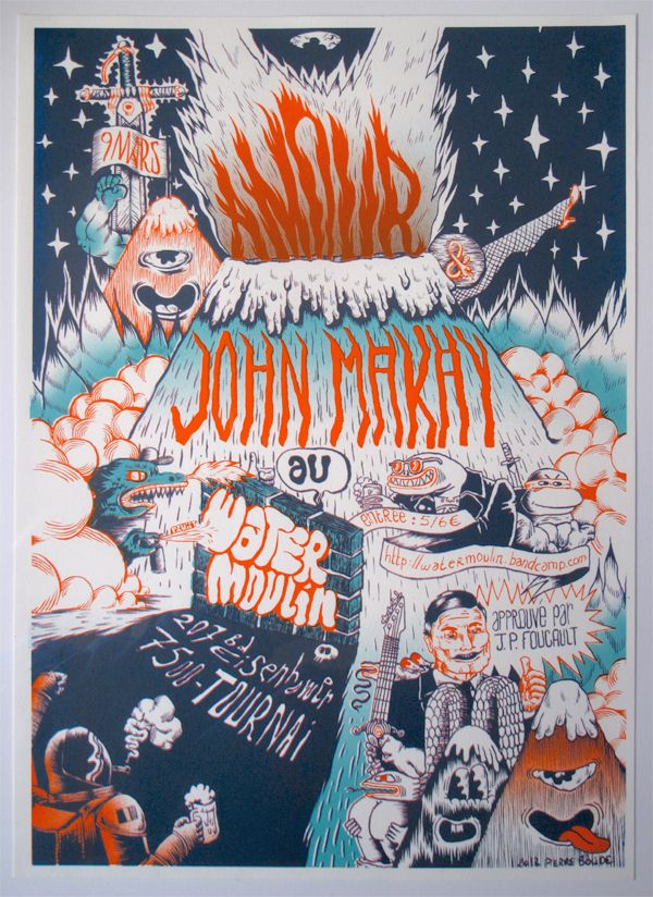 WaterMoulin Silkscreen poster