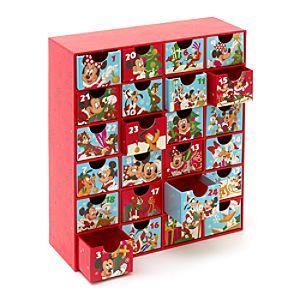 Disney Calendrier de l'avent Mickey | Disney StoreCalendrier de l'avent Mickey - Faites le compte � rebours vers No�l avec une surprise diff�rente chaque jour. Ce calendrier de l'avent en carton contient 24 petits tiroirs, tous orn�s de personnages Disney. On peut y mettre des confiseries et des petits cadeaux.