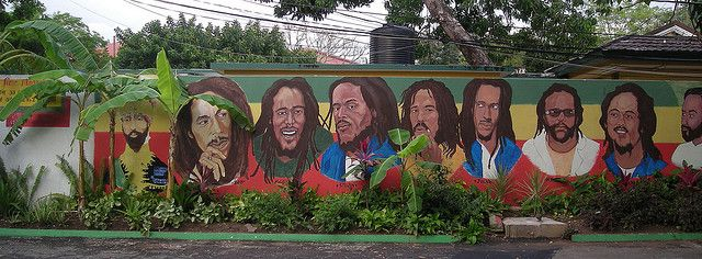 Bob Marley Mural, Bob Marley House, Kingston, Jamaica | Flickr: Intercambio de fotos