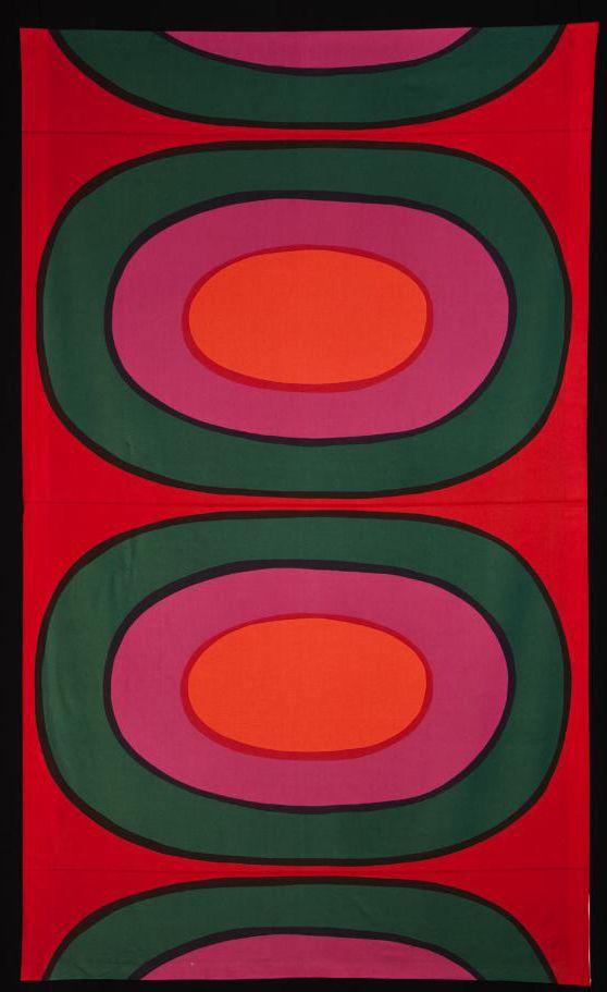 Melooni fabric design by Maija Isola for Marimekko, Finland, 1963 | Goldstein Design Museum, University of Minnesota