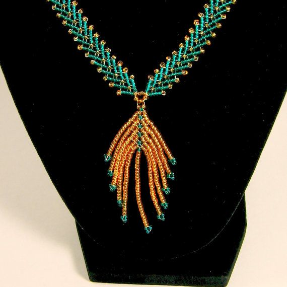 Double St. Petersburg Chain Necklace with Feather by AngelaBeads, $55.00