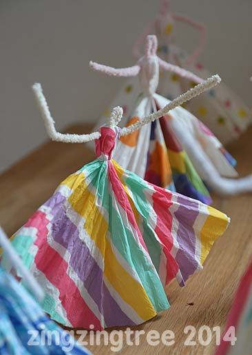Pipe Cleaner Dancing Princess - Pipe Cleaner Crafts