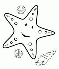 Cartoon Starfish Coloring Page