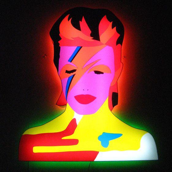 Modern Love, David Bowie Neon Poster.