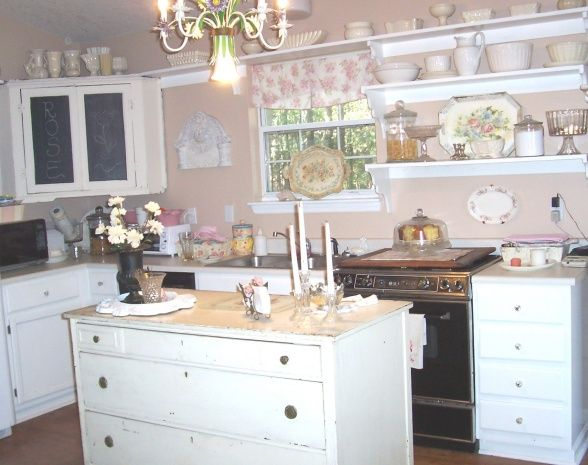 Shabby chic kitchen on a budget kitchen belle pinterest for Kitchens on a budget