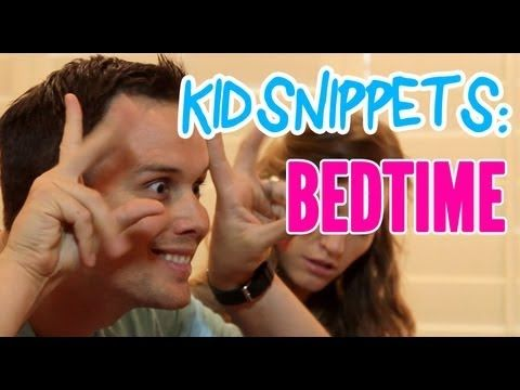 """Kid Snippets: """"Bedtime"""" (Imagined by Kids) How adorable was that ending? :) -Katy"""