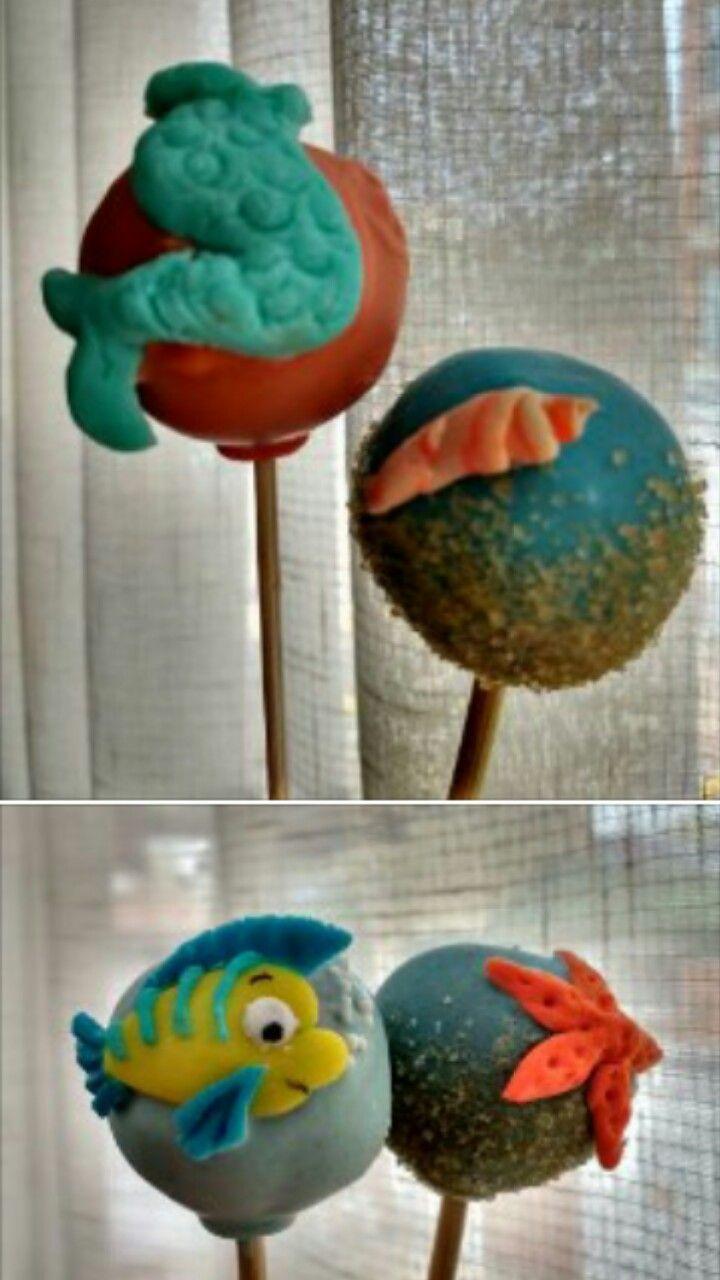 Cake pops marinos  Cake pops la sirenita