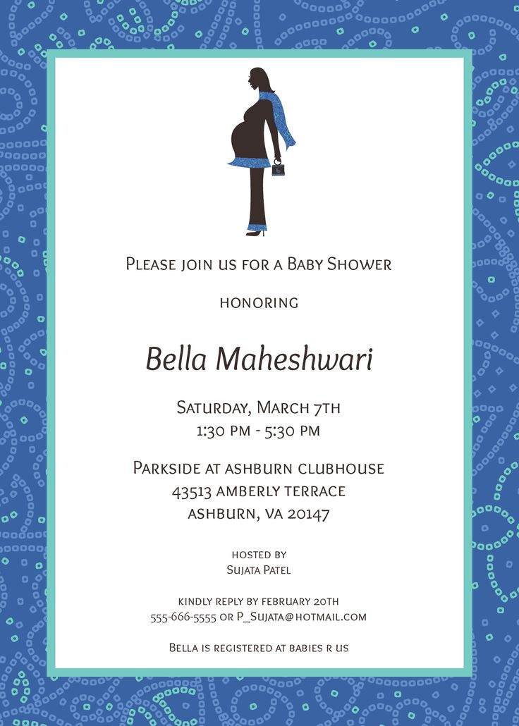 13 best godh bharai invitations images on pinterest baby shower indian baby shower modern invitation with bandhani border and a pregnant indian silhouette with bandhani stopboris Image collections