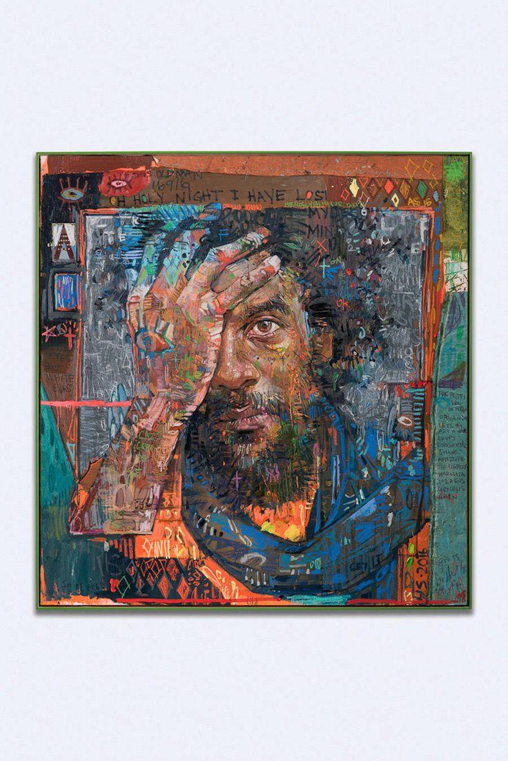 Complex Multicolored Painting Portraits by Andrew Salgado – Fubiz Media