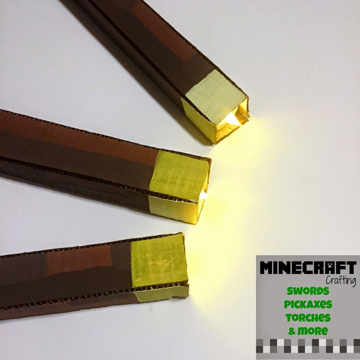 Full DIY instructions to make cardboard torches!! Twitchetts: MINECRAFT Crafting ~ Swords, Torches, Pickaxes, and More.