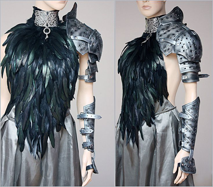 Feather dress and leather armor set II by Pinkabsinthe.deviantart.com on @deviantART