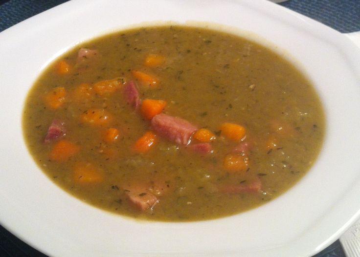 Split Pea and Ham Soup. Perfect for fall! http://brigitteskitchenandhome.blogspot.ca/2013/10/split-pea-soup-with-ham.html