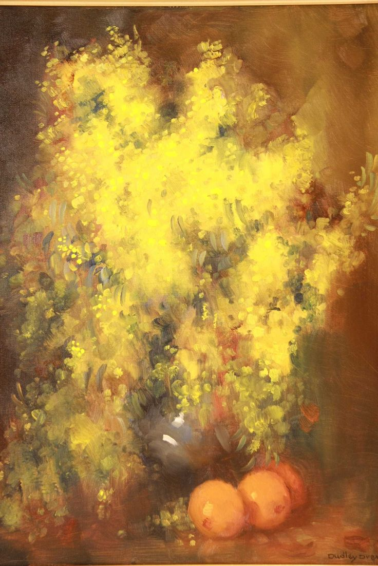 Dudley Joseph Drew ( Australian, 1924-) - Wattle and Oranges.
