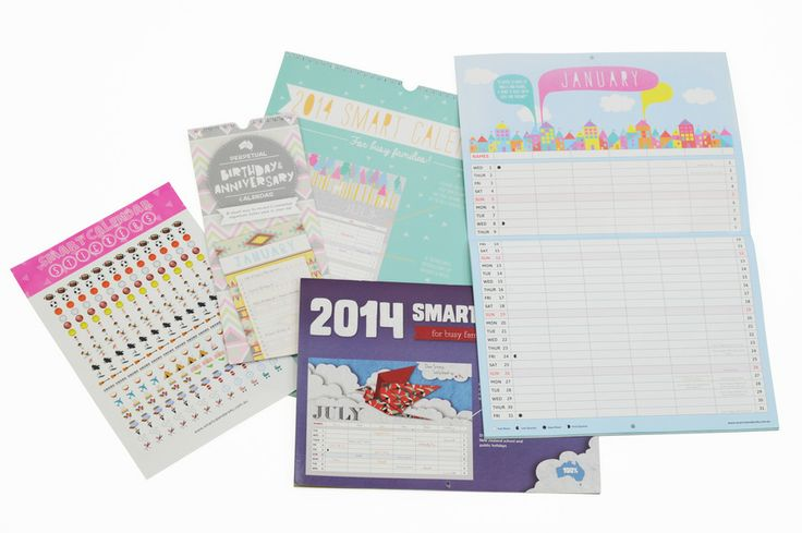 Our Smart Calendars are an efficient and affordable way to manage your time and reduce stress. #2014 #SmartCalendar