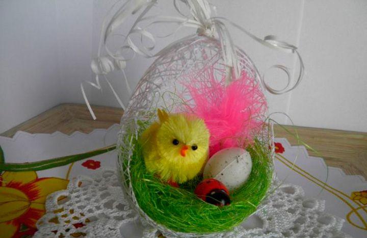 Яйцо из ниток