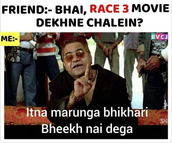 Trollers Trolled Race 3 With Hilarious Memes These Will Make Your Day Rvcj Media Fun Quotes Funny New Funny Memes Funny School Jokes