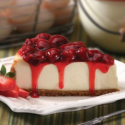 There's only one way to make a cheesecake taste even better -- add fruit! The Strawberry Cheesecake tops off the New York-style cheesecake with a generous helping of strawberry preserves for a taste that's to die for.