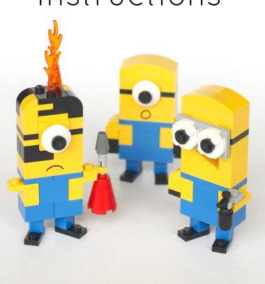 Lego minions - from Gru (with building instructions) / Legó minyonok a Gru-ból (építési útmutatóval) / Mindy - craft tutorial collection