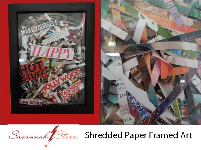 228 best up cycling re cycling images on pinterest creative ideas shredded paper frame art top 9 recycled magazine crafts solutioingenieria Gallery