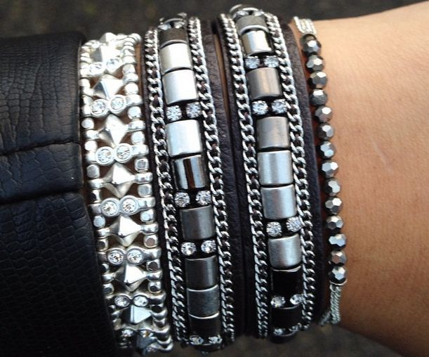 The perfect #SDArmParty arm candy bracelet stack. Find your dream arm party at Stella & Dot