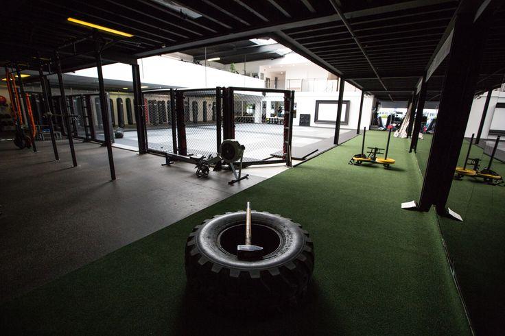 Sprinttrack bij Gym Hoofddorp van Melvin Manhoef. #crossfit #kunstgras #manhoef #turf #floor