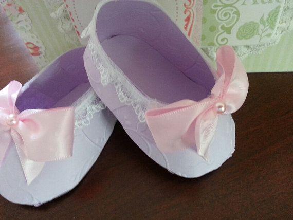 Conjunto de diez lavanda y rosa bailarina zapato favores /