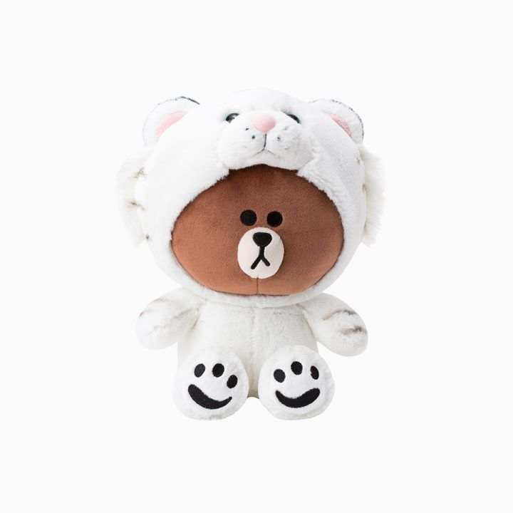 """LINE FRIENDS Character Plush Doll Toy TIGER BROWN Bear 25cm 9.8"""" Official Goods #LINEFRIENDS #DollswithClothingAccessories"""