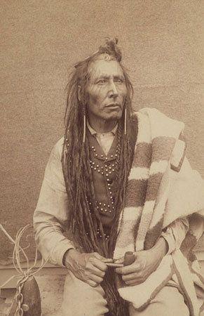 Pitikwahanapiwiyin (aka Pound Maker) - Cree - 1885 ~ a key figure in the Louis Riel rebellion in western Canada in 1885