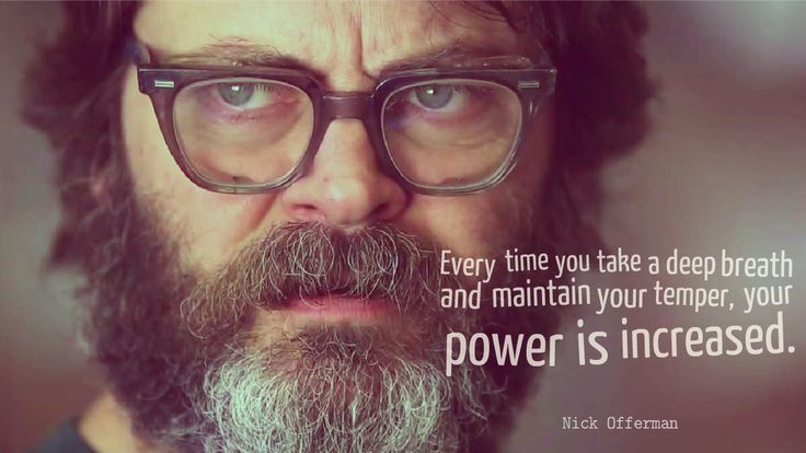 """Every time you take a deep breath and maintain your temper..."" - Nick Offerman [1280x720]"