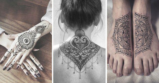 La cultura hindú es muy rica y visualmente preciosa. ¿Te animarías a llevar algún diseño de la cultura oriental en la piel? Estas mujeres se animaron y los resultados son íncreibles. Vas a amar estos 14 tatuajes hindúes. ¡Te lo prometo!#14 Lindo y muy sexy#13 ¡Qué preciosa flor de loto!#12